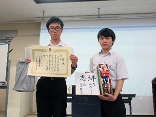 C-2級優勝の早稲田大学系属早稲田実業学校高等部チーム