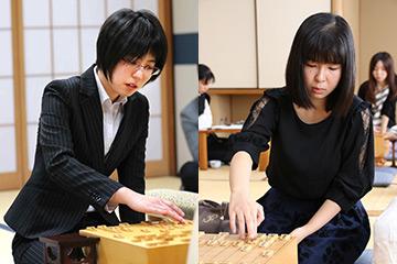 第44期岡田美術館杯女流名人戦第1局両対局者