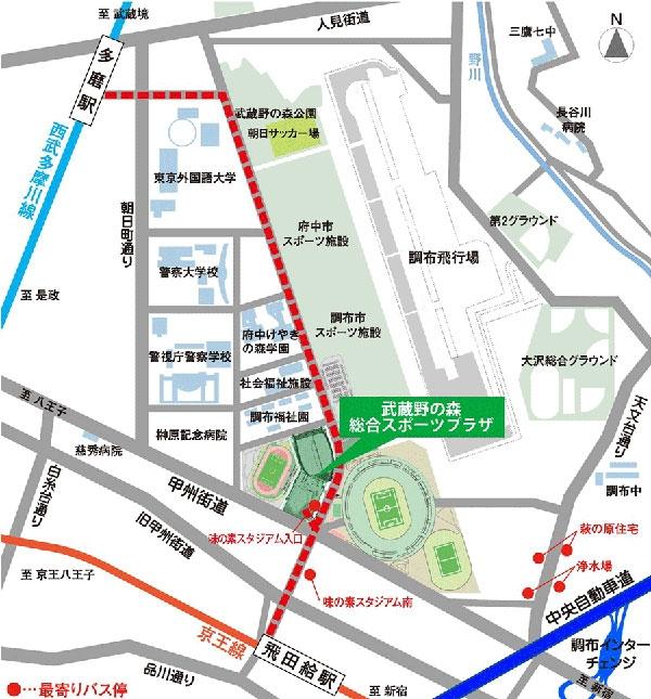 武蔵野の森 総合スポーツプラザ_案内地図