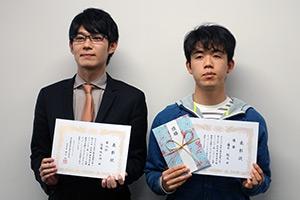 5連覇の藤井聡太七段と準優勝の斎藤慎太郎王座