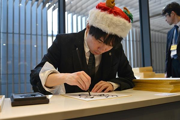 クリスマスフェスタ2017 サイン会での佐藤名人