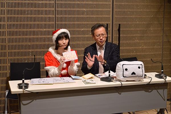 クリスマスフェスタ2017 ニコニコ生放送に出演する中村九段と塚田女流1級