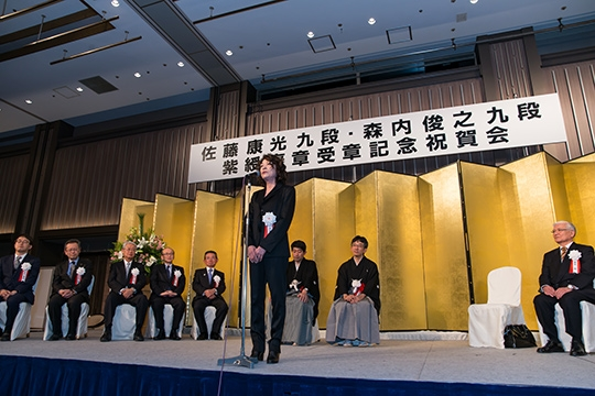 佐藤康光九段、森内俊之九段、紫綬褒章記念パーティー