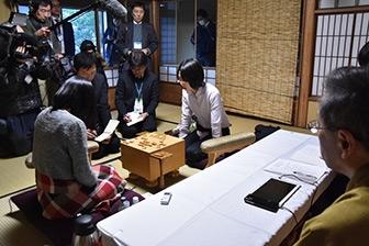 第44期岡田美術館杯女流名人戦五番勝負第1局対局終了後の模様
