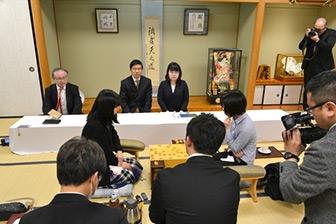 第44期岡田美術館杯女流名人戦五番勝負第3局感想戦の模様
