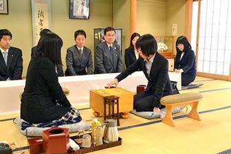 第44期岡田美術館杯女流名人戦五番勝負第3局対局開始の模様