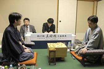 第67期王将戦七番勝負第4局対局終了後の模様