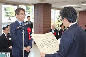 第44回将棋大賞表彰式・昇段者免状授与式_05