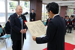 第44回将棋大賞表彰式・昇段者免状授与式_07