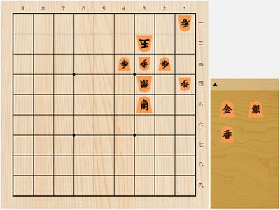 2017年9月22日の詰将棋(5手詰)
