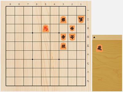 2017年12月9日の詰将棋(飯島栄治作、9手詰)