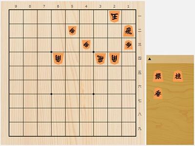 2018年7月28日の詰将棋(杉本和陽作、9手詰)