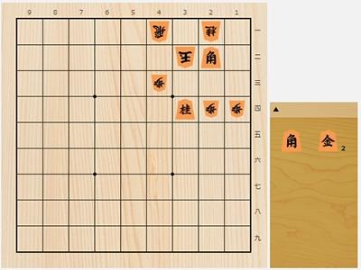 2019年6月1日の詰将棋(本間博作、7手詰)