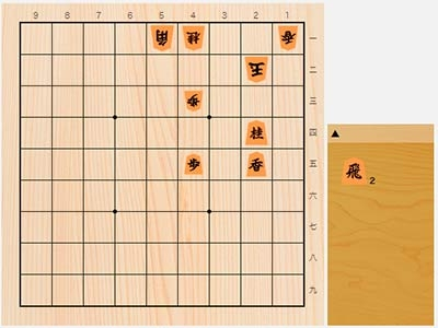 2020年2月8日の詰将棋(及川拓馬作、7手詰)