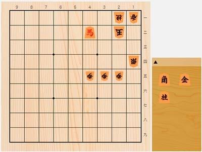 2020年2月11日の詰将棋(中田宏樹作、11手詰)