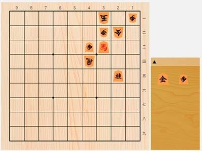 2020年3月1日の詰将棋(西村一義作、11手詰)