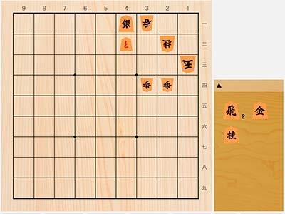 2020年6月30日の詰将棋(長沼洋作、9手詰)