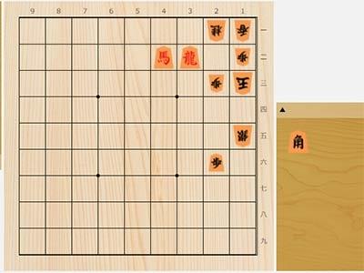 2021年6月14日の詰将棋(3手詰)