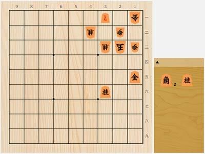 2021年7月27日の詰将棋(石井健太郎作、7手詰)